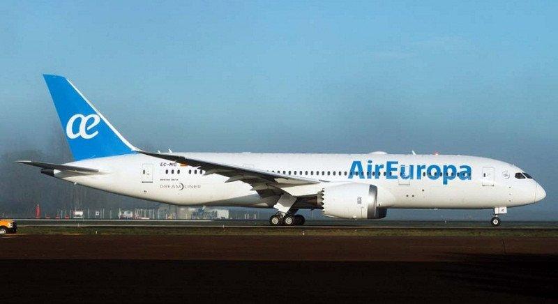 Air Europa ha comenzado aoperar su ruta Madrid-Santo Domingo con el tercer Boeing 787 Dreamliner de su flota.