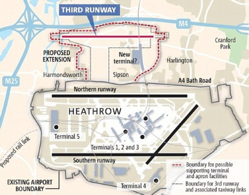 Proyecto de la tercera pista de Heathrow.