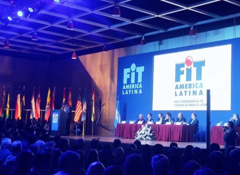 El presidente de FAEVyT en el acto inaugural de la FIT.