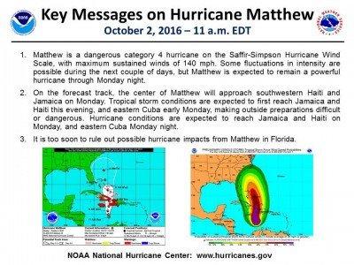 Informe del Centro Nacional de Huracanes de la mañana de este domingo.