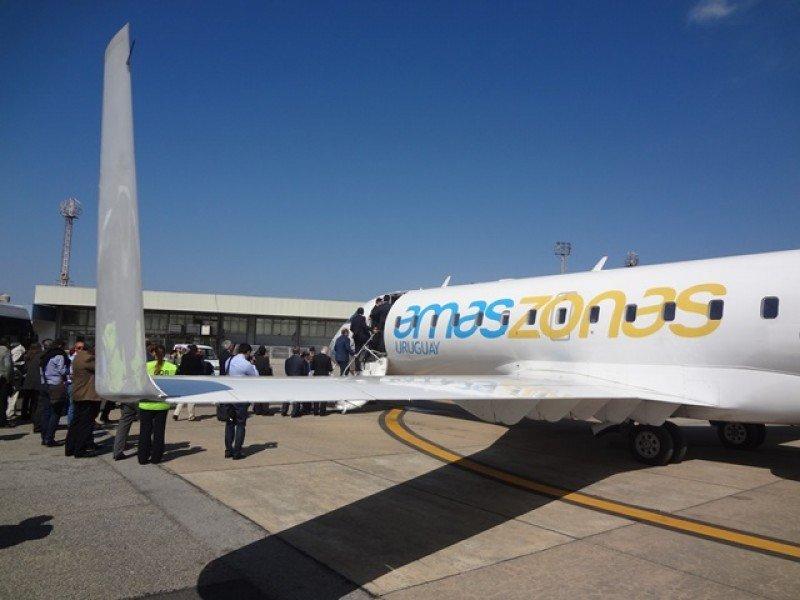 Amaszonas apunta a desarrollar un hub de rutas de seis países en Montevideo