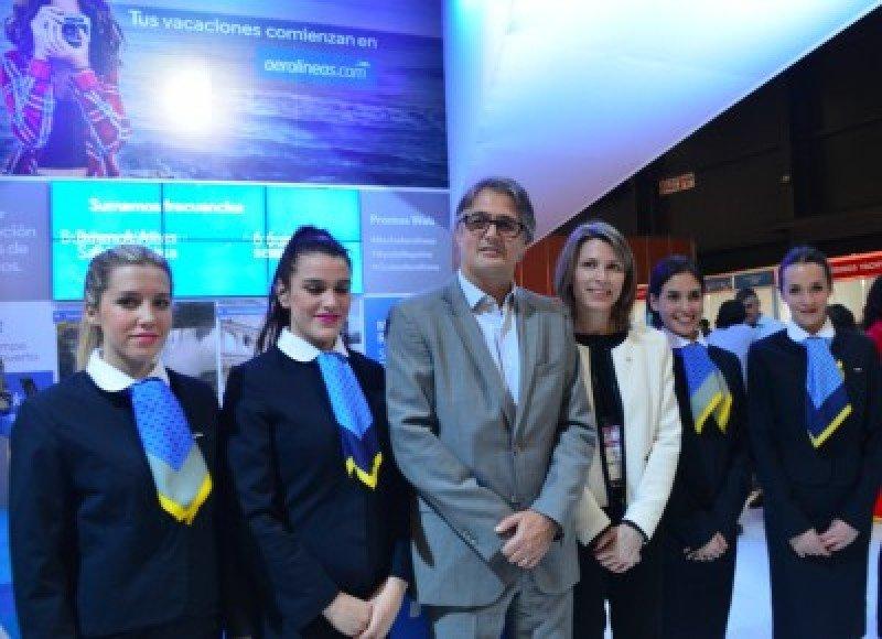 Stand de Aerolíneas Argentinas en FIT 2016.