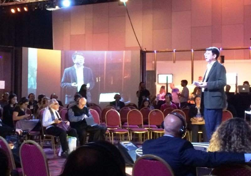 George Cao, CEO de Dragon Trail, en el Marktur Forum en Buenos Aires.