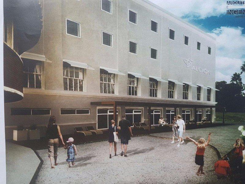 Proyecto de rehabilitación del hotel Alción de Solís, perteneciente al Sindicato Médico del Uruguay.