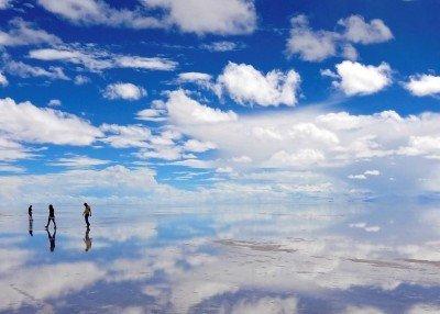 Salar de Uyuni, el famoso desierto de sal boliviano.