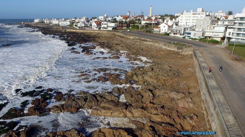 Desapareció la Playa de los Ingleses en Punta del Este. Foto: PuntaPress.