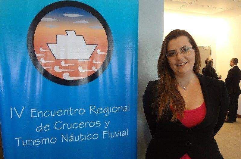 Bruna Milazzotto, responsable de operaciones portuarias y relaciones con los gobiernos para Royal Caribbean en Sudamérica.