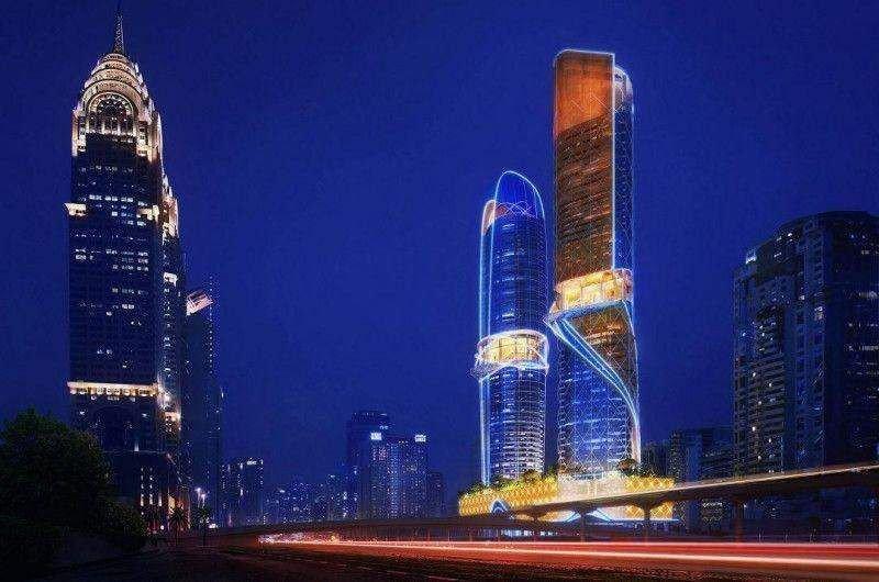 Las dos torres del futuro hotel modificarán el skyline de la ciudad. Foto: Plompmozes.