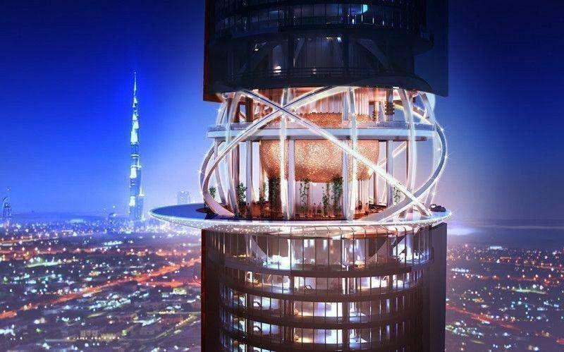 En la zona media de una de las torres el diseño recuerda al de una perla encerrada en su ostra.