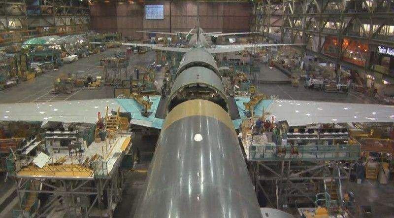 La producción del B777 podría bajar a 3,5 al mes por la caída de las ventas