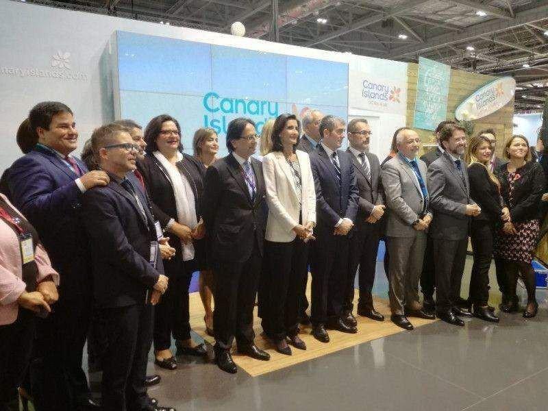 El presidente Clavijo con la delegación canaria en la World Travel Market.