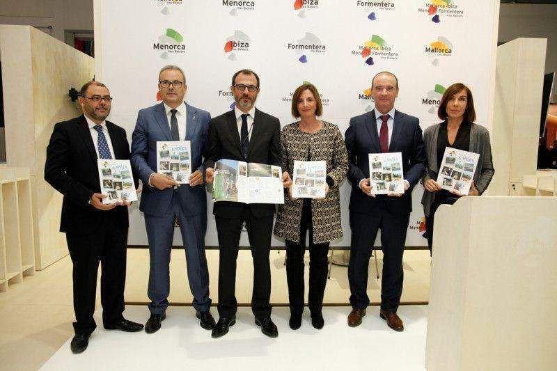 Los representantes de Baleares en la presentación de 'Better in winter' en la WTM.