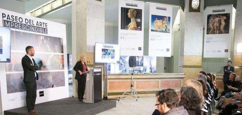 Presentación del Paseo del Arte en Madrid.