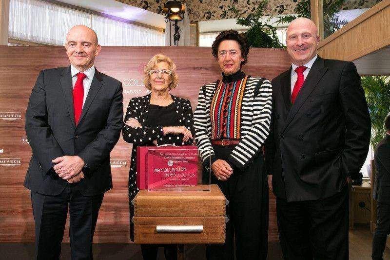 Ramón Aragonés, Manuela Carmena, Anunciada Fernández de Córdova y Hugo Rovira.