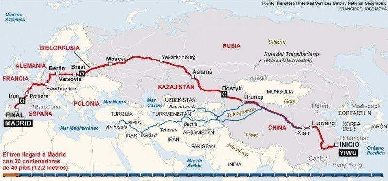 El recorrido de 13.052 kilómetros.