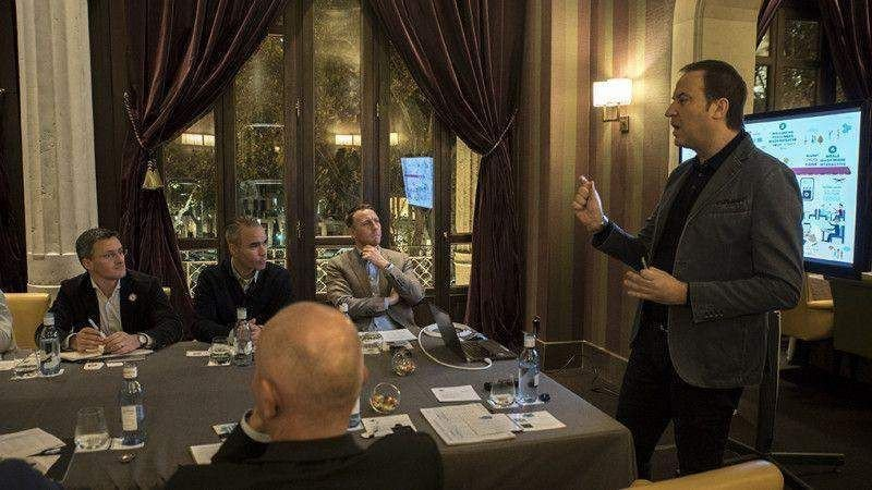 Marius Robles, CEO de Reimagine Food, en una mesa redonda del Digital Plate Talks.