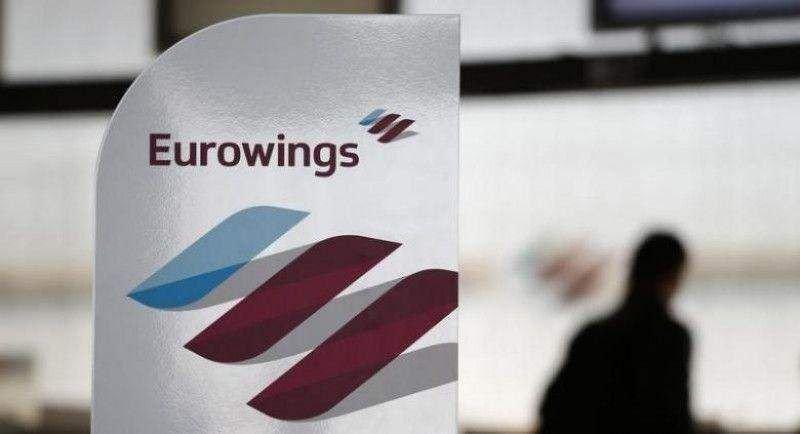 Eurowings cancela 64 vuelos por la huelga de los tripulantes de cabina