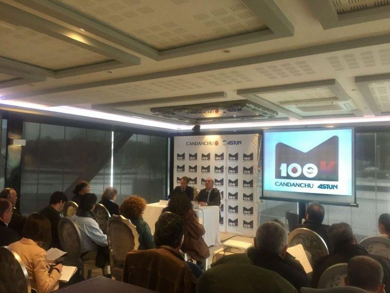 Los responsables de las estaciones, en la presentación que realizaron ayer en Madrid.