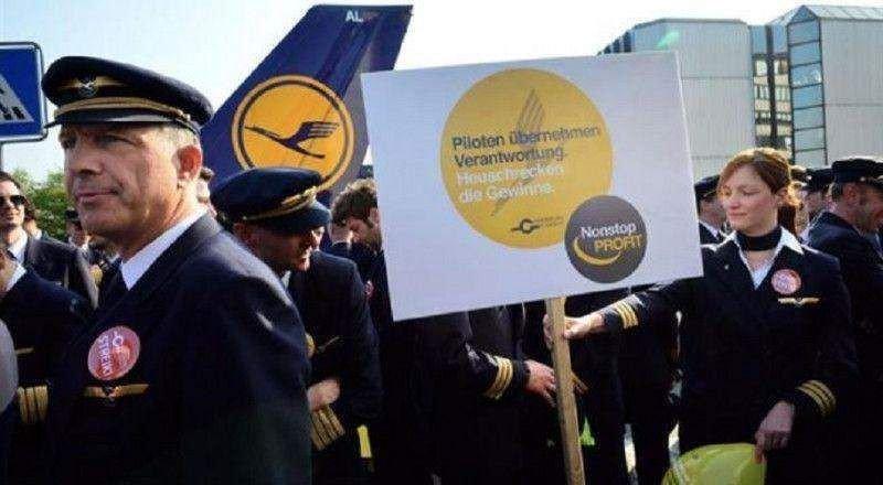 Los pilotos de Lufthansa prolongan la huelga otro día (Foto de archivo de uan d elas hulegas de 2015/ NewsTV).