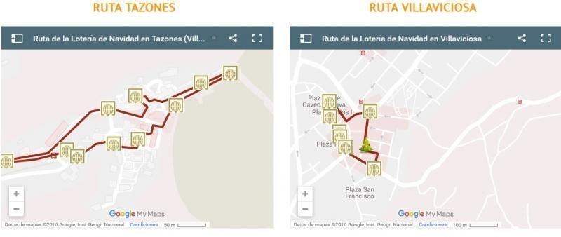 Los puntos de mayor interés de la ruta aparecen acompañados con fotogramas del spot.