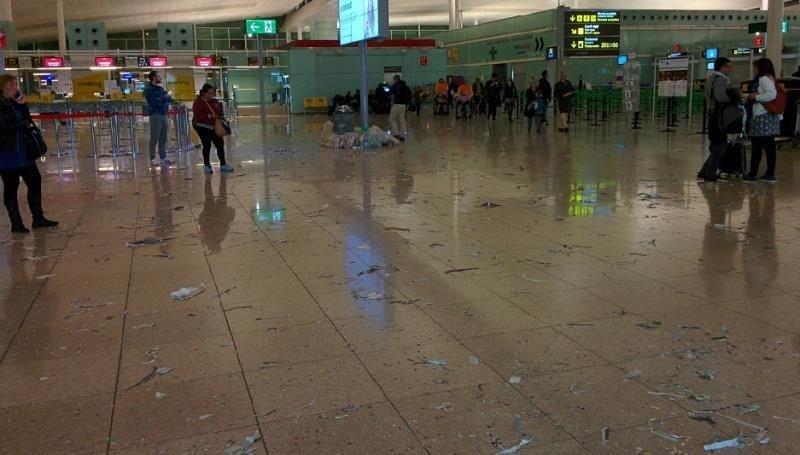 La huelga de la limpieza ya se ve en El Prat