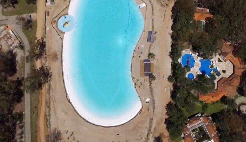 Vista aérea de la laguna. Foto: @actituduy