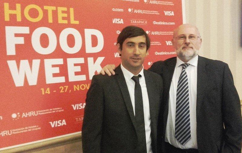 Bari Monzeglio, organizador de Hotel Food Week, y Juan Martínez, presidente de AHRU.