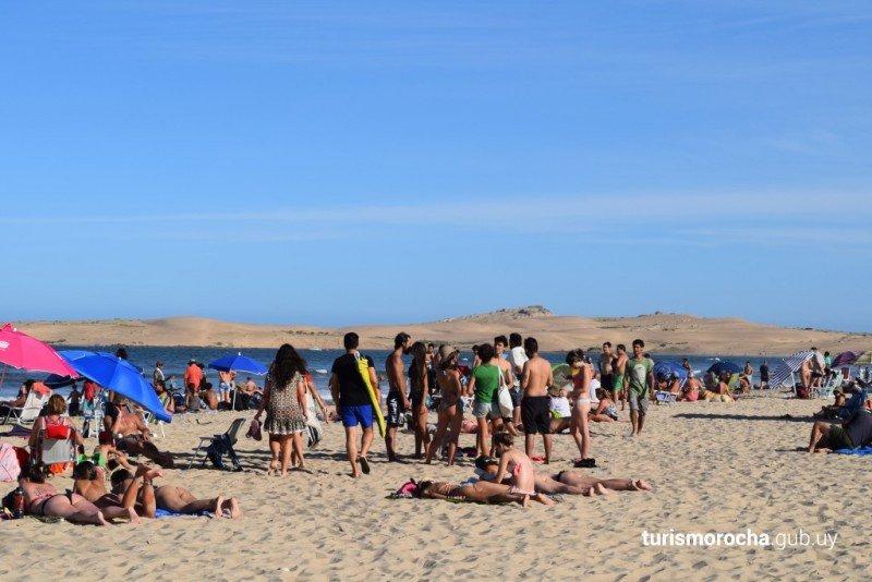 Playa de Valizas, en Rocha. Foto: Turismo Rocha