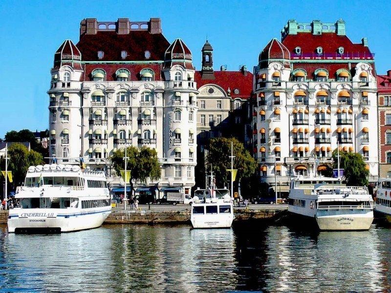 El Hotel Diplomat de Estocolmo fue sede de la presentación conjunta de Argentina y Uruguay.