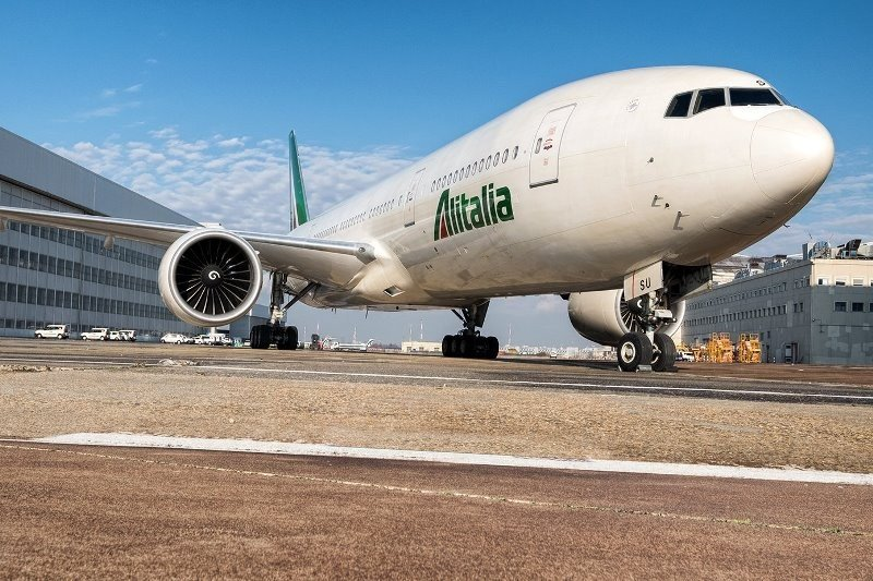 Boeing B777 de Alitalia con capacidad para 293 pasajeros.
