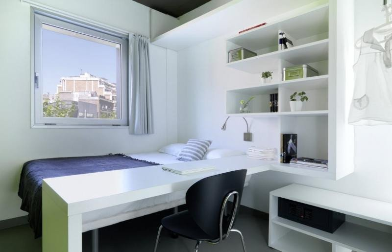 Habitación de una de las residencias de Melon Distric, a las que se abrió expediente el verano pasado.