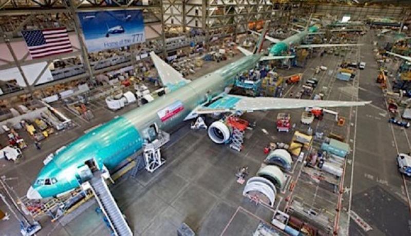 Línea de montaje del Boeing 777.