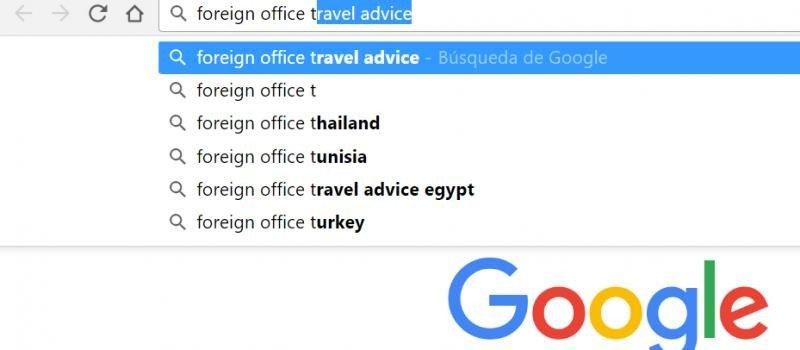 Al hacer búsquedas sobre consejos de viajes, Google muestra las pesquisas que han realizado antes miles de usuarios. Este imagen fue tomada el 13 de diciembre de 2016.
