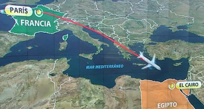 Hallan rastros de explosivo en cadáveres del siniestro de Egyptair