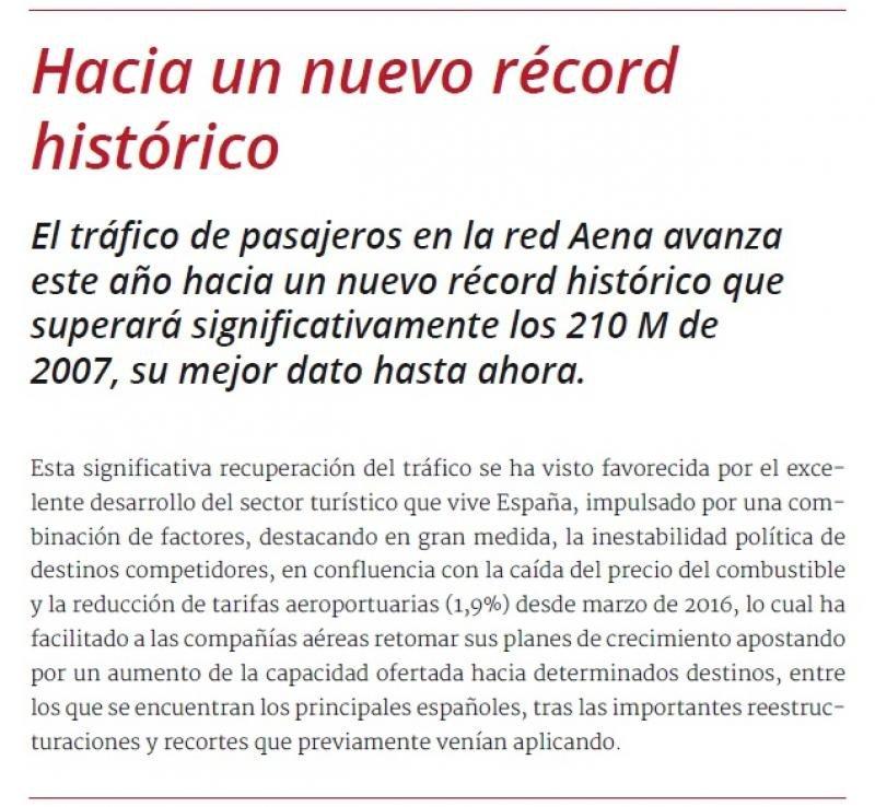 Un nuevo récord histórico que superará significativamente los 210 M de pasajeros de 2007.