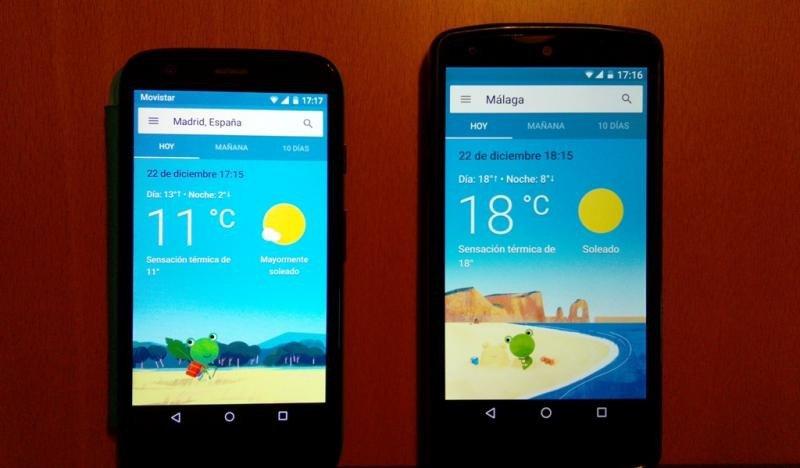 Temperaturas ayer jueves en Madrid y en Málaga.