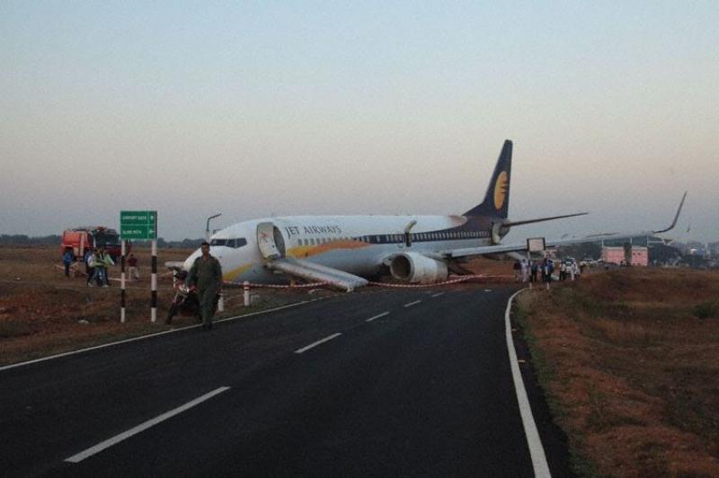 15 heridos tras salirse un avión de la pista en un aeropuerto indio