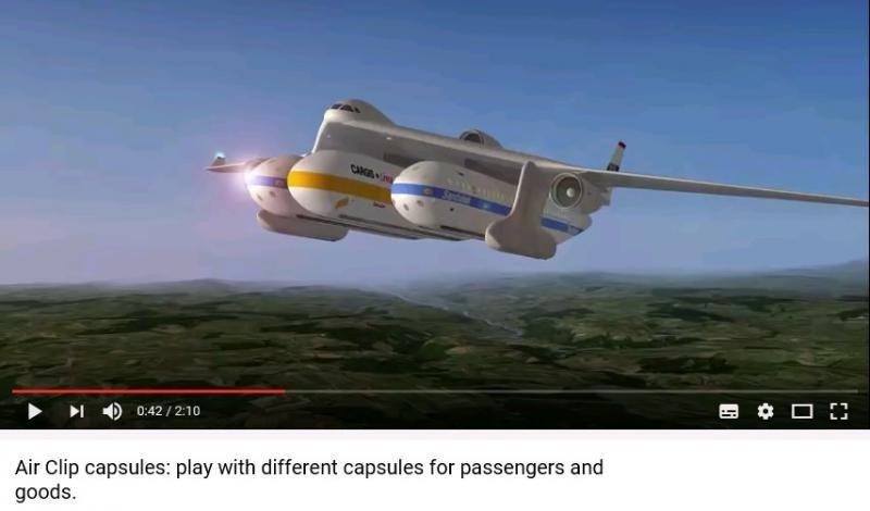 El avión Clip-Air, revolucionario concepto de transporte aéreo