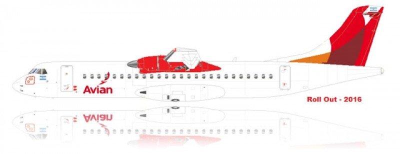 Avian encargó 12 aviones turbohélice para el inicio de sus operaciones desde Argentina.