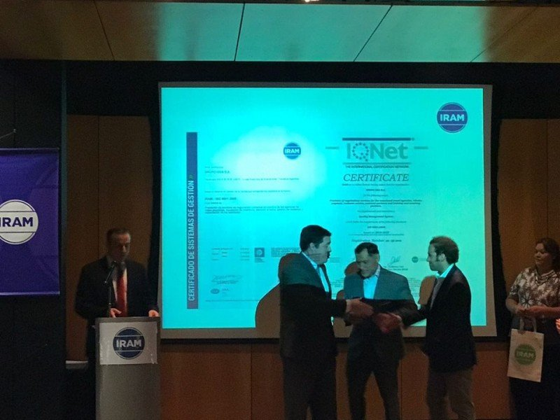 Grupo GEA Argentina con certificación IRAM
