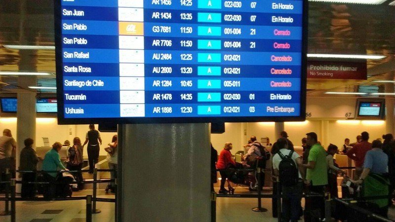 Argentina sin vuelos de LATAM y Aerolíneas hasta el mediodía