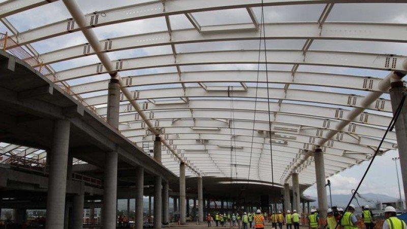 Las obras de la Terminal Sur de Tocumen llevan 65% de avance aunque tienen un retraso de nueve meses. Foto: Prensa