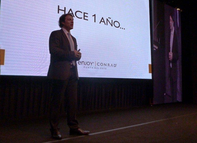 Juan Eduardo García desempeñará la gerencia general en Enjoy Santiago luego de tres años en Uruguay.