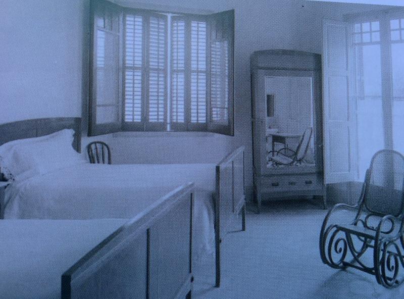 Una de las habitaciones del hotel Subur de Sitges, cuando se inauguró en diciembre de 1916.