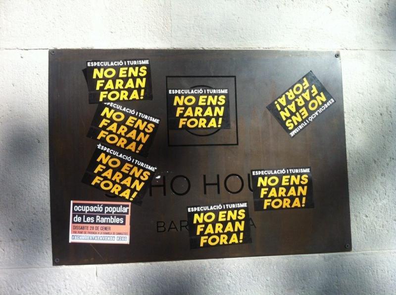 Manifestación contra hoteles en Barcelona