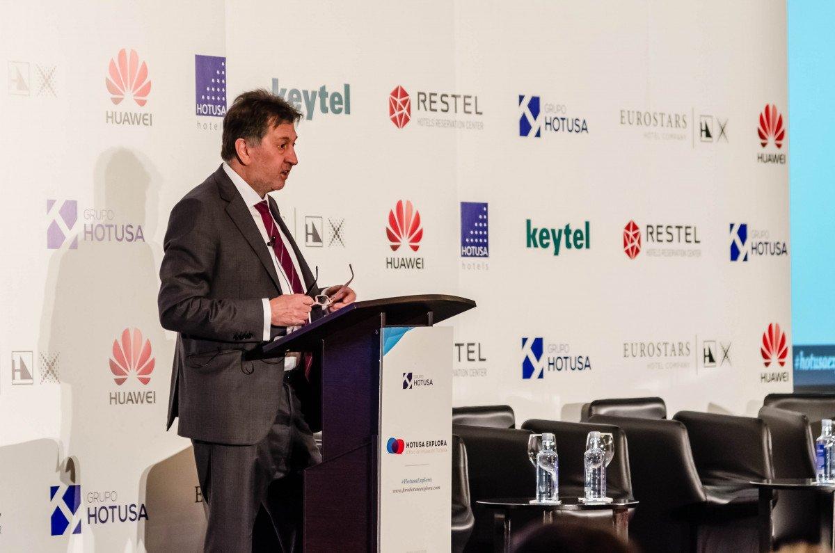 Amancio López, presidente de la cadena hotelera Hotusa.