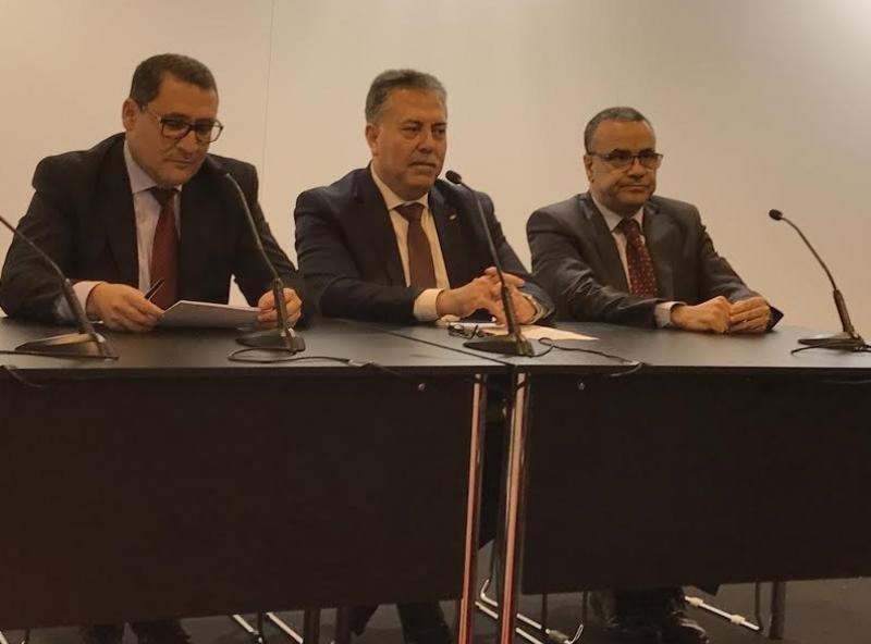 En la rueda de prensa celebrada en Fitur participaron Abdellatif Hamam, director general de la Oficina Nacional de Turismo de Túnez; Sabri Bachtobji, secretario de Estado de Asuntos Exteriores; y Wacef Chiha, Embajador de Túnez en España.