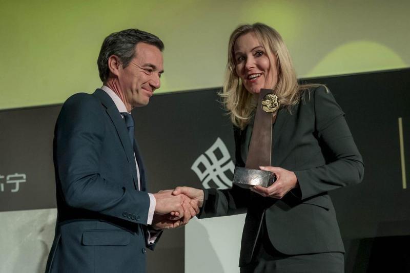 José Ángel Preciados, director general de Ilunion Hotels, y Tanja Mihalic, miembro del Comité de Ética de la Organización Mundial del Turismo.