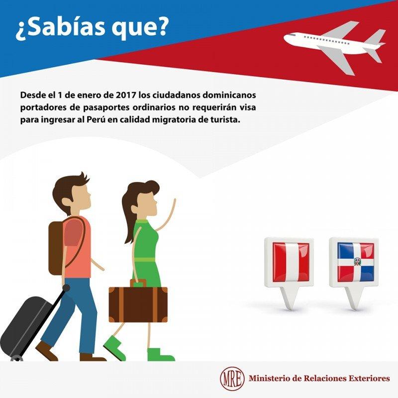 Dominicanos ya pueden ingresar a Perú sin visa