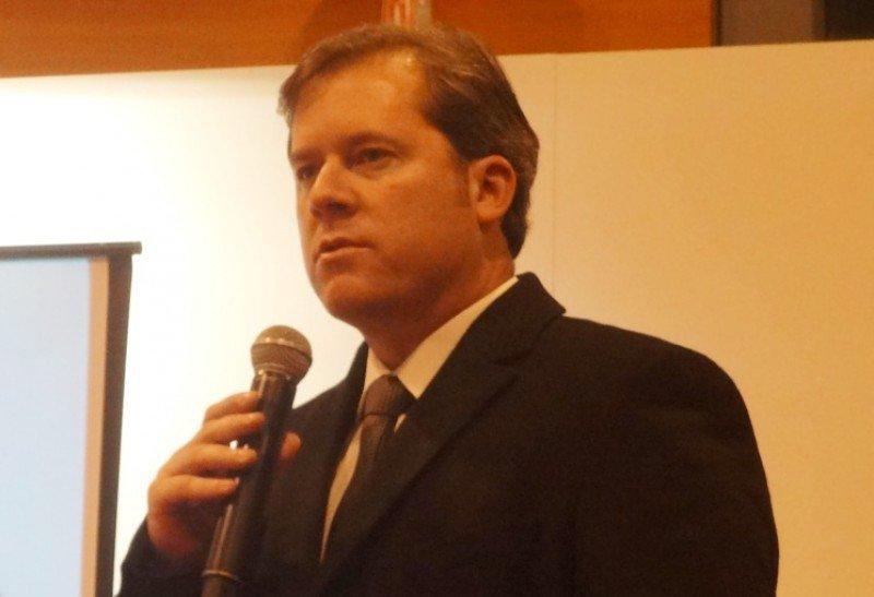 Marx Beltrão, ministro de Turismo de Brasil en FITUR 2017.